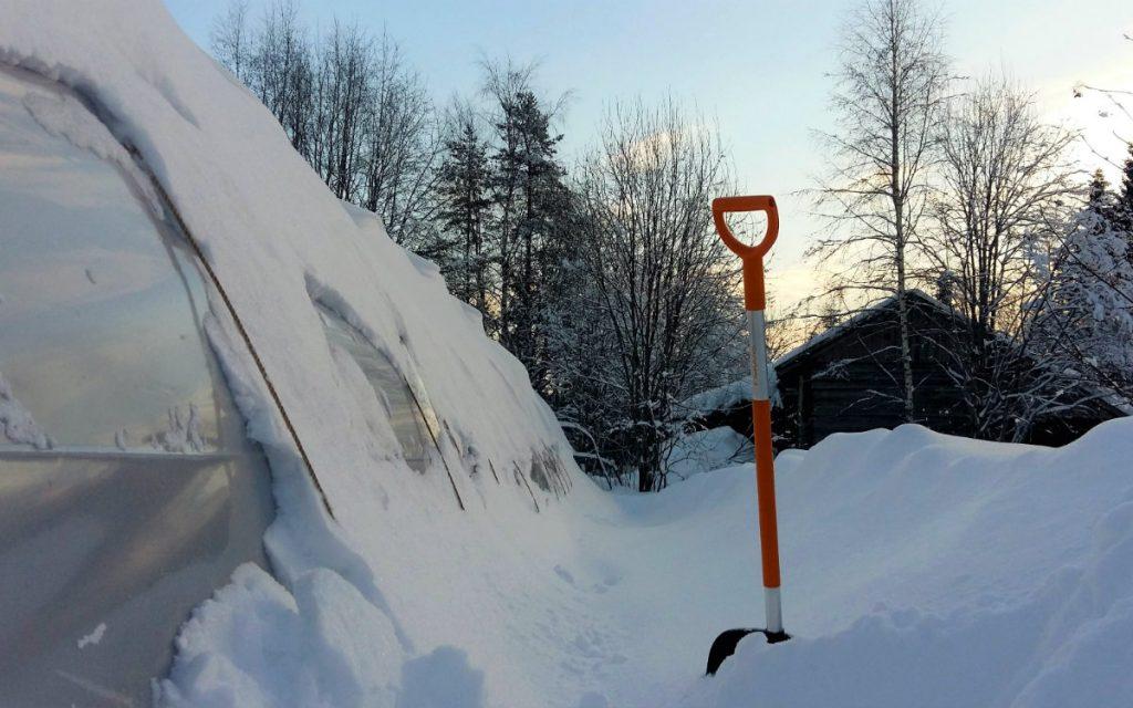 kasvihuone, kasvutunneli lumenpoisto